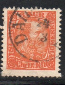 Iceland  Sc 34 1902 3 aur orange Christian IX stamp used