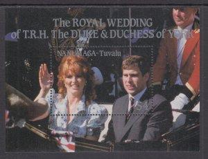 Tuvalu Nanumaga 73 Royal Wedding Souvenir Sheet MNH VF