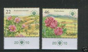 SERBIA-MNH** SET-EUROPEAN NATURE PROTECTION-FLORA-2010.