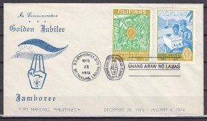 Philippines, Scott cat. 1221-1222. Scouts Golden Jubilee. First day cover. ^