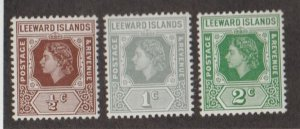 Leeward Islands Scott #133-134-135 Stamps - Mint NH Set