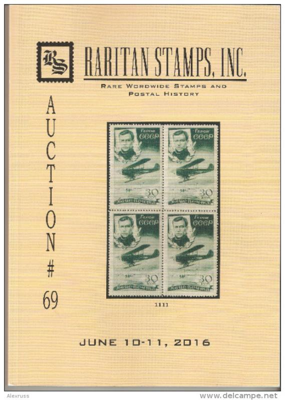 Raritan Catalog Auction #69,Jun 2016 Rare Russia, Errors & Worldwide Rarities