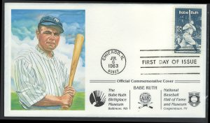 US Scott 2046 1st Day Cover Babe Ruth!