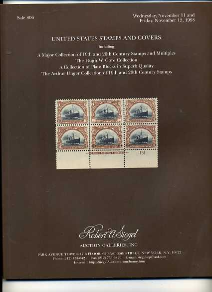 Siegel Auction Sale of 19th & 20th Century Stamps&Multiples