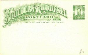 SOUTHERN RHODESIA KGVI Unused Postal Stationery Card ½d {samwells-covers} PB308
