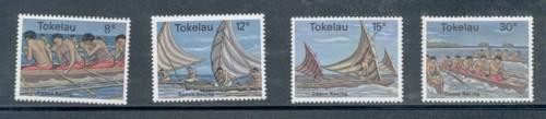 Tokelau Sc 65-8 1978 Canoe Racing stamp set mint NH