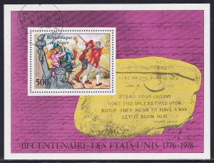 Niger 1976 Sc C272 American Bicentennial Year Statue of Liberty Stamp SS CTO NH