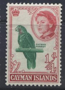Cayman Islands - Scott 153- QEII-Definitive -1962 - MLH- Single 1/4d Stamp2