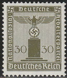 Stamp Germany Official Mi 153 Sc S1 1938 WWII Third Reich Franchise MH