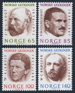 Norway 639-642,MNH. Geologists 1974.Vogt,Goldschmidt,Kjerulf,Brogger.
