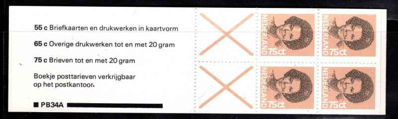 Netherlands Scott 622a stamp booklet
