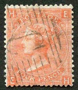 British Levant SG Z92 4d Vermilion Plate 10 with Constantinople C Postmark