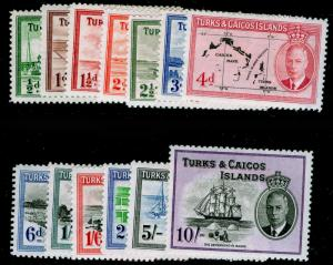 TURKS & CAICOS ISLANDS SG221-233, COMPLETE SET, NH MINT. Cat £85.