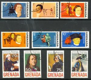 GRENADA 1975 AMERICAN BICENTENNIAL Set Sc 628-633, C29-C32 CTO Used