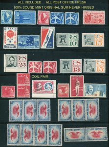 Quality Mint AIR selection  35 stamps total C48-C69 +C23(12)