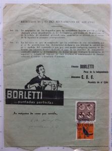 Ecuador Sewing Machine Borletti ad dispatch intl postal parcel 1959 form 38 644
