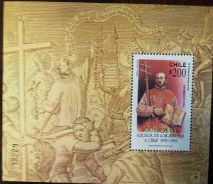 O) 1993 CHILE, SAN IGNACIO DE LOYOLA -ARRIVAL OF JESUITS, SOUVENIR MNH