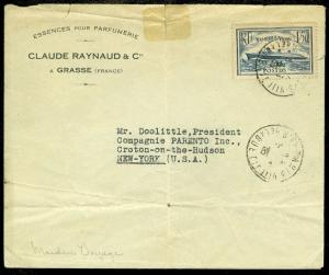 FRANCE : 1935. Commercial cover, Maiden Voyage. S.S. Normandre to USA.