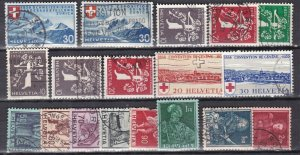 SWITZERLAND^^^^^1939# 252//278  used  collection   $ 47.00@ lar720swoiss20xx