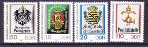 Germany DDR 2497 MNH 1990 Various Early Coats of Arms Full Set Very Fine