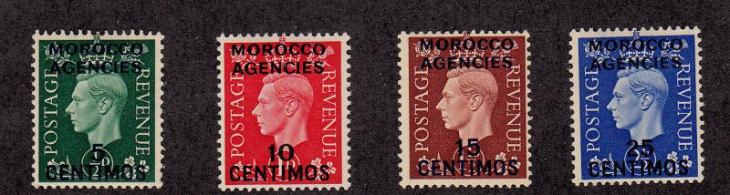 Great Britain - Offices in Morocco - 1937 - SC 83-86 - H - George VI