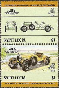 St. Lucia - #741 -MNH- 1985 - Autos - $1.00 - SCV-1.40