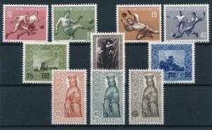 Liechtenstein 1954 Complete Year Set MNH