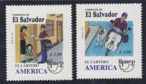 El Salvador 1470-71 MNH 1997 Life of a Postman Set Very Fine