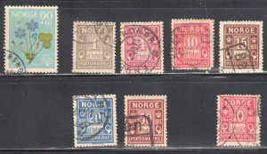 Norway #B63, J1 to J6, J3a all Used