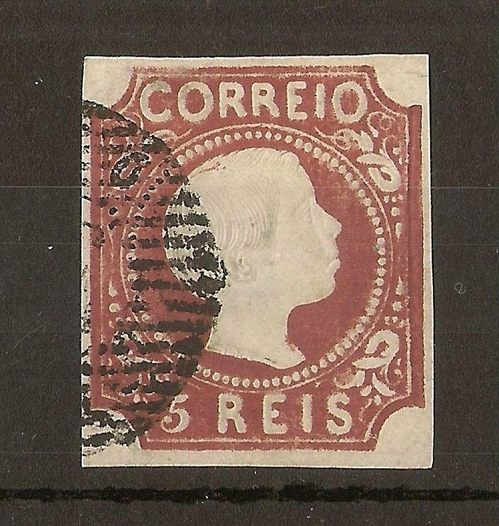 Portugal 1855 5R Pedro SG10 Fine Used Cat£1400