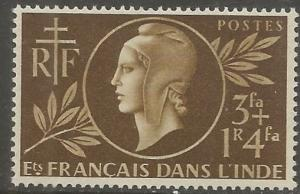 FRENCH INDIA  B14  MINT HINGED,  RED CROSS ISSUE
