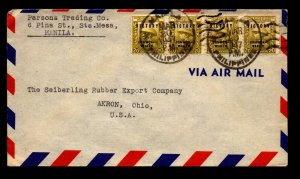 Philippines 1947 Cover to USA - L22581