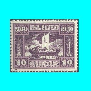 Vikings Island 1930 Parliament Althingi 1000 years 10 aurar mnh Mi 128 €16.00