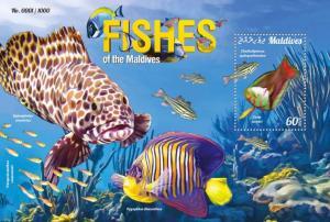 Maldives MNH S/S Fish Marine Life 2015