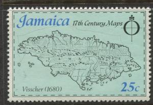 Jamaica - Scott 421 - Maps Issue -1977 - MNH - Single 25c Stamp