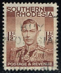Southern Rhodesia #44 King George VI; Used (0.35)