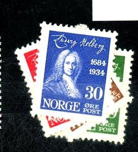 NORWAY 158-161 MINT VF OG VLH Cat $28