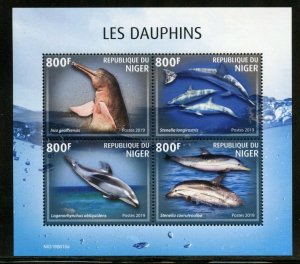 NIGER 2019  DOLPHINS SHEET MINT NH