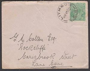 AUSTRALIA 1923 GV 1½d on cover to Lane Cover - LITHGOW / NSW cds...........57255