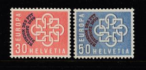 Switzerland #376-377 Overprints ( Mint NEVER HINGED) great cv$75.00