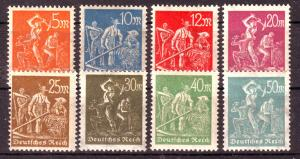 GERMANY Reich 1922 Mi# 238-245 MNH (1001)
