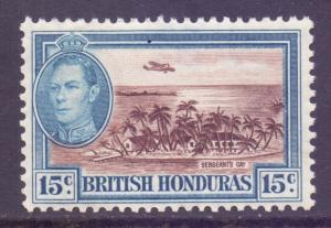 Br Honduras Scott 121 - SG156, 1938 George VI 15c MH*