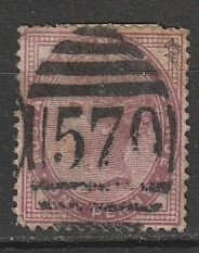 #89 Great Britain Used 16 dot Dumbartonshire cancel