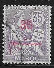 French Morocco 34 used 2017 SCV $5.50