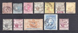 MAURITIUS 12, 19, 21 ($48.50 TOTAL) +9 DIFFERENT  COLLECTION LOT CXLS MOST SOUND