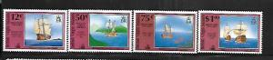 BRITISH VIRGIN ISLANDS,721-724, MINT HINGED, DISCOVERY VOYAGES