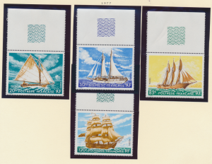 French Polynesia Stamps Scott #296 To 299, Mint Never Hinged, With Selvage/Ta...