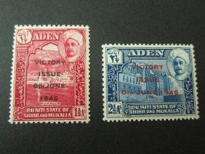 Aden 1946 Sc 12-13 set MNH