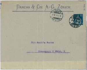 SWITZERLAND  -  POSTAL HISTORY: PRIVATE Postal Stationery  1912