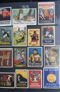 World Exhibition, Convention, Stamp Show, Poster, Label stamp Collection LOT#Q13
